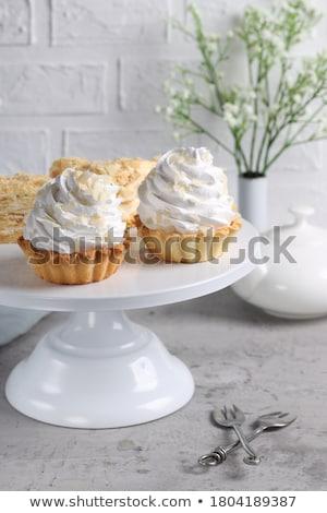 Smaczny mini ciasto wiśniowe kolor gradient Zdjęcia stock © olira