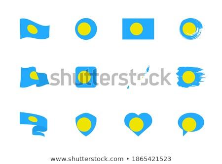 Bandeira Palau forma coração amor Foto stock © butenkow