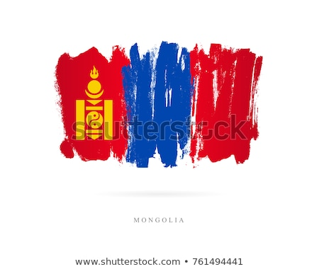 Mongolië vlag witte ontwerp wereld teken Stockfoto © butenkow