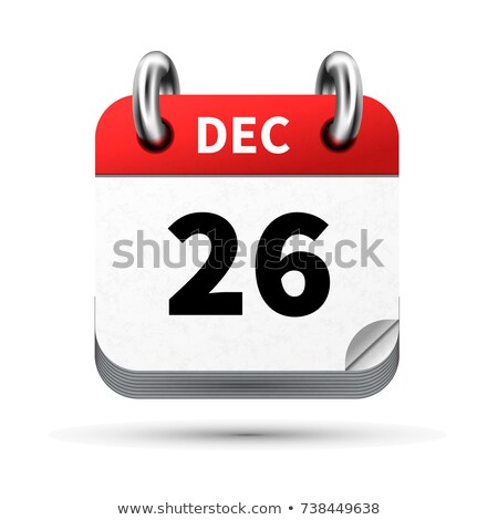 Bright realistic icon of calendar with 26 august date isolated on white Stock photo © evgeny89