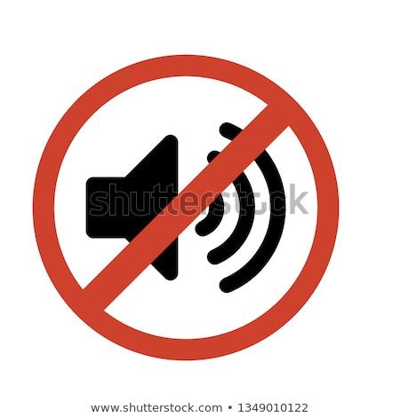 Zene nem megengedett piros tilos felirat Stock fotó © evgeny89