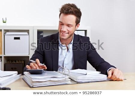 üzlet könyvelő emberek adó könyvvizsgálat könyvelés Stock fotó © AndreyPopov