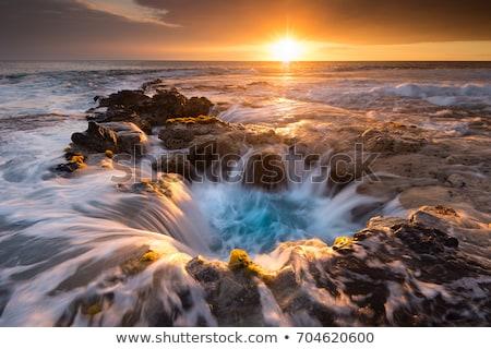 закат большой острове Гавайи солнце вниз Сток-фото © photoblueice