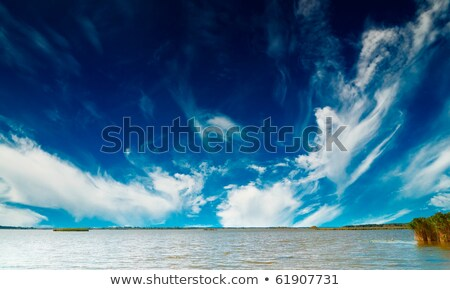 Stock photo: Landscape cumulous cloud on lake