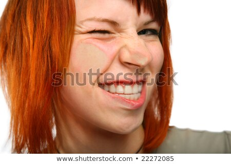 Flatten grimace girl Stock photo © Paha_L