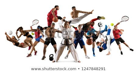 Sports people group collage Stock photo © Paha_L