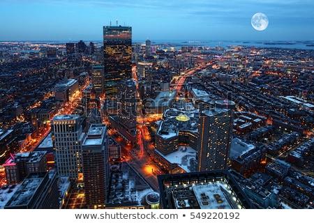 Boston urbanas río puesta de sol cielo Foto stock © rabbit75_sto