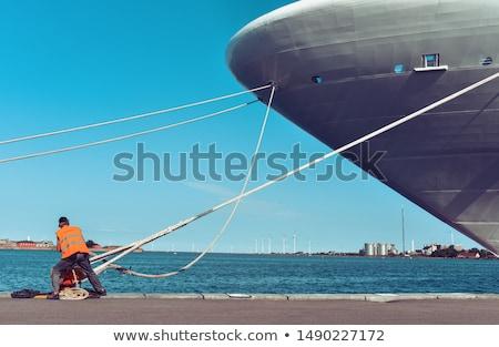 Gemi halat ağır görev mavi doku Stok fotoğraf © duoduo