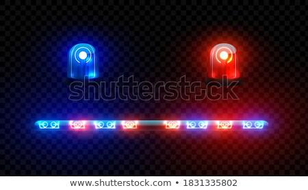 青 緊急 車両 照明 警察 光 ストックフォト © Arrxxx