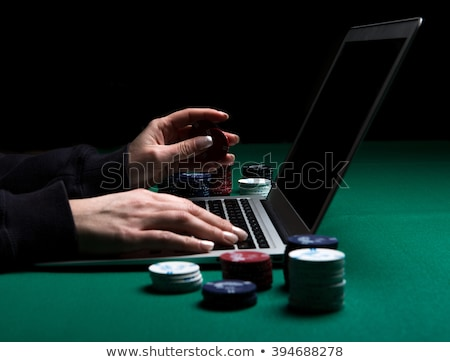 poker online poker cards on white laptop   gambling concept pho stock photo © stokkete