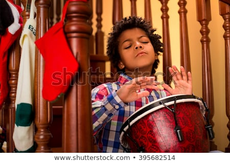 little boy playing with djembe stock photo © photography33