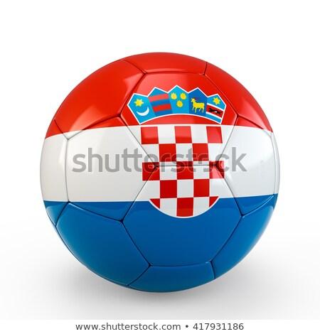 calcio · bandiera · isolato · bianco · illustrazione · 3d · sport - foto d'archivio © bestmoose