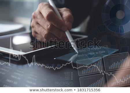 Competitivo empresário negócio homem terno executivo Foto stock © photography33