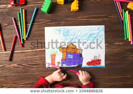 young child with painters equipment stock photo © gewoldi