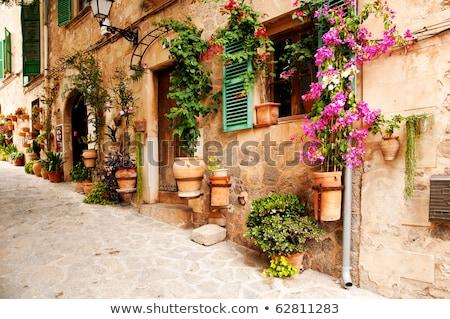 oude · binnenstad · hout · majorca · middellandse · zee · venster - stockfoto © macsim