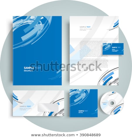 abstract corporate cd cover Stock photo © pathakdesigner