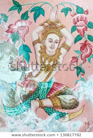 Traditional Thai style painting Stock photo © jakgree_inkliang