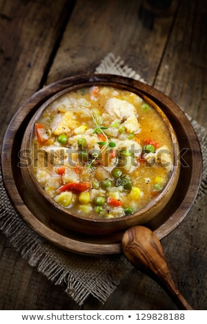 Hearty Vegetable And Chicken Stew Photo stock © mythja