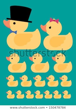 Rubber ducks family Stock photo © broker
