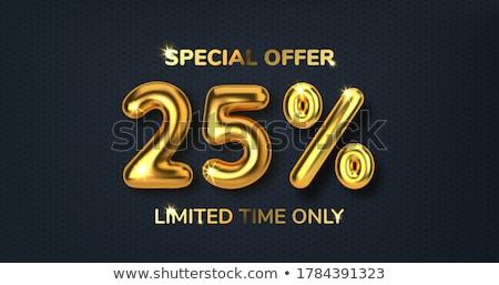 На 25 процент продажи совета Сток-фото © frank11