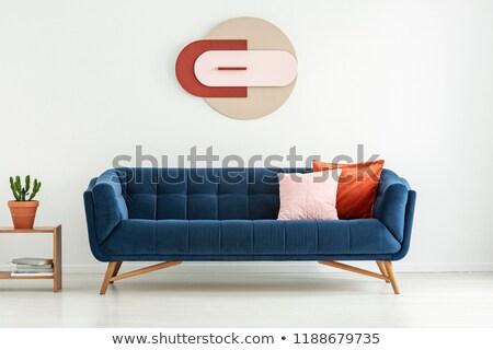 moderna · oficina · lobby · naranja · silla · diseno · interior - foto stock © stoonn