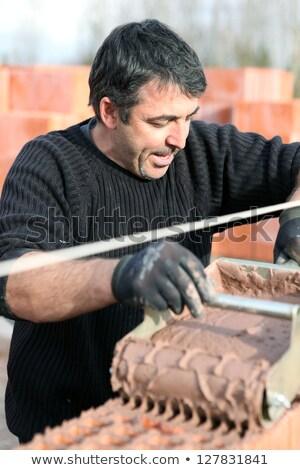 каменщик специальный цемент стены Сток-фото © photography33