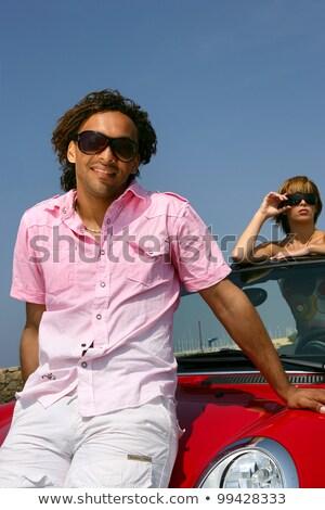 Vent tonen af roadster mooie meisje Stockfoto © photography33