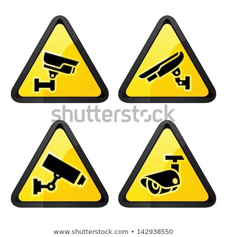 кабельное телевидение Этикетки набор символ камеры безопасности аннотация Сток-фото © Ecelop