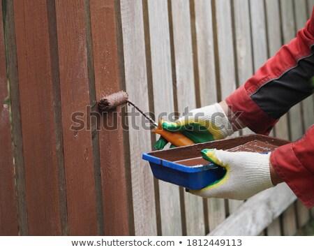 Paintroller on panel Stock photo © Hofmeester