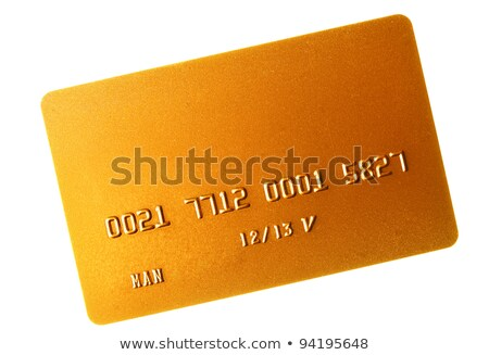 Gold credit card isolated over the white Stock photo © shutswis