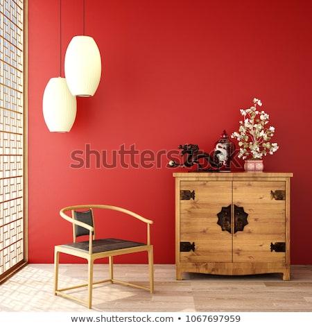 extérieur · de · la · maison · mur · de · briques · entrée · porche · pont - photo stock © tab62