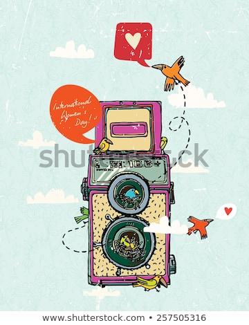 Vintage dois lente foto câmera isolado Foto stock © gavran333