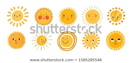 Happy Sunrise Sun Character Stock photo © Lightsource
