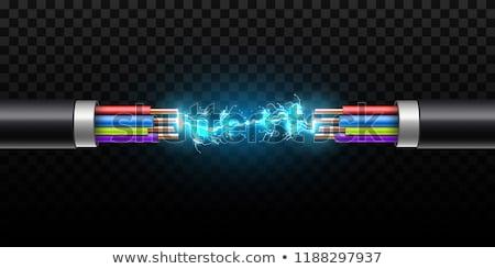 électricité cuivre câbles couleurs rouge bleu Photo stock © olivier_le_moal