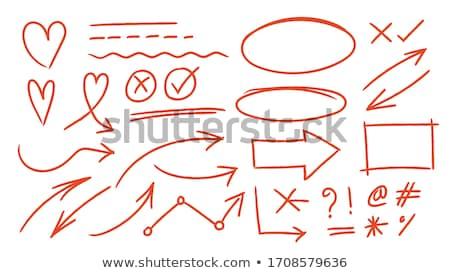 красный маркер школы пер Дать колледжей Сток-фото © SSilver