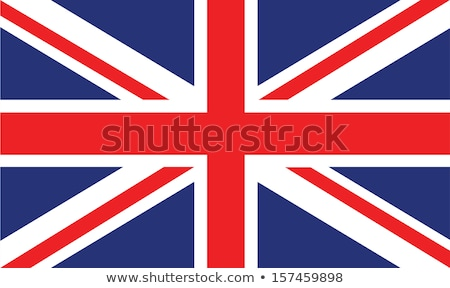 Brit zászló brit kék ég fúj szellő mozgás Stock fotó © Gordo25