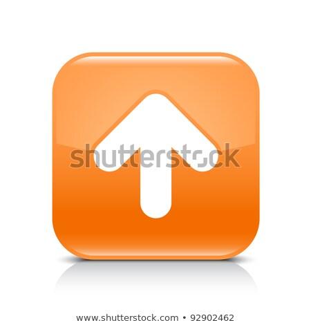 Upload icon grey glass, isolated on white background. Stock photo © zeffss