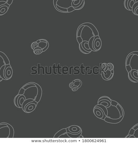 Head full of music icons vector background Stock photo © krabata