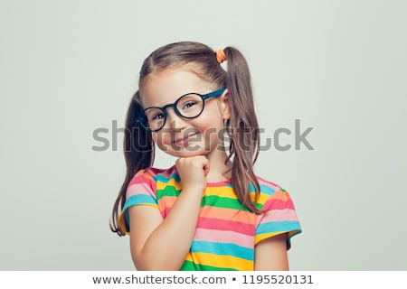 Funny little baby with glasses stock photo © luckyraccoon
