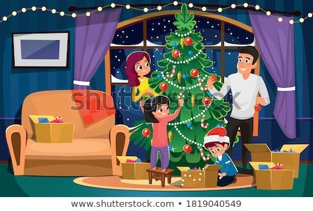 vibrante · vermelho · natal · ouro · fio · diversão - foto stock © david010167