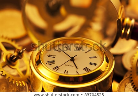 Altın madeni para dişliler ayna yüzey Stok fotoğraf © Vladimir
