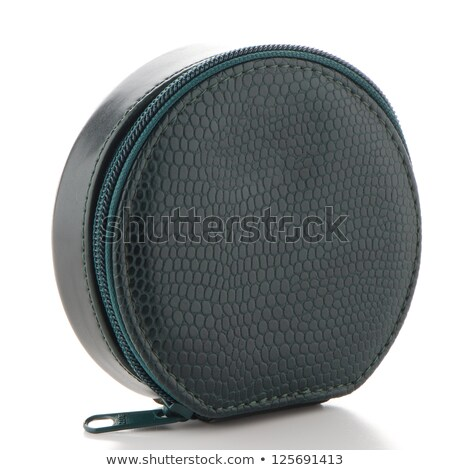 Small green leather travel care kit Stock photo © homydesign