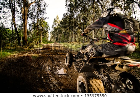Quad Rider Jumping Foto stock © homydesign