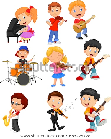 Boy and Girl playing musical instrument Stock photo © zzve