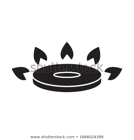 Vector icon gas range and oven Stock photo © zzve