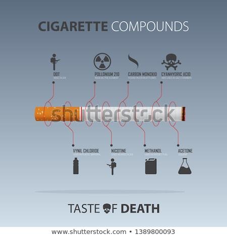 cigarette and brain stock photo © mariephoto
