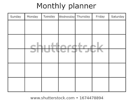 kalendarza · spirali · miesiąc · działalności · kolor - zdjęcia stock © devon