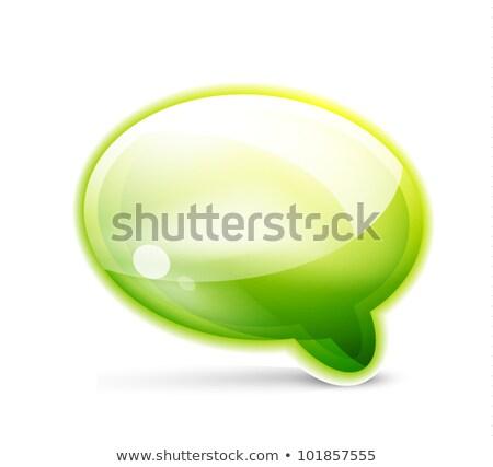 Сток-фото: аннотация · 3D · зеленый · изолированный · белый