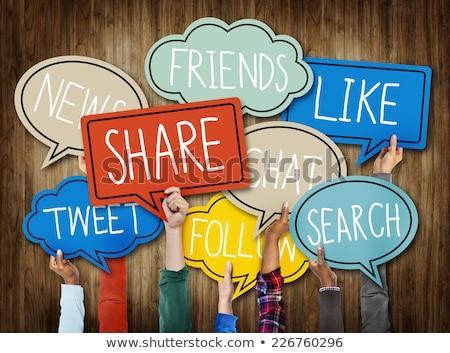 Renkli sosyal medya vektör iş Internet Stok fotoğraf © burakowski