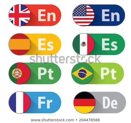 Flag with translation into portuguese and brazilian Stock photo © Ustofre9